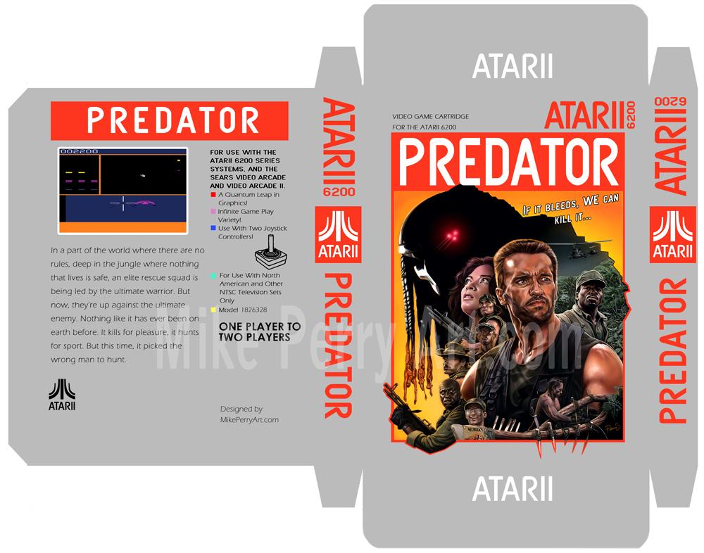 Predator Atari Box template by MikePerryArt