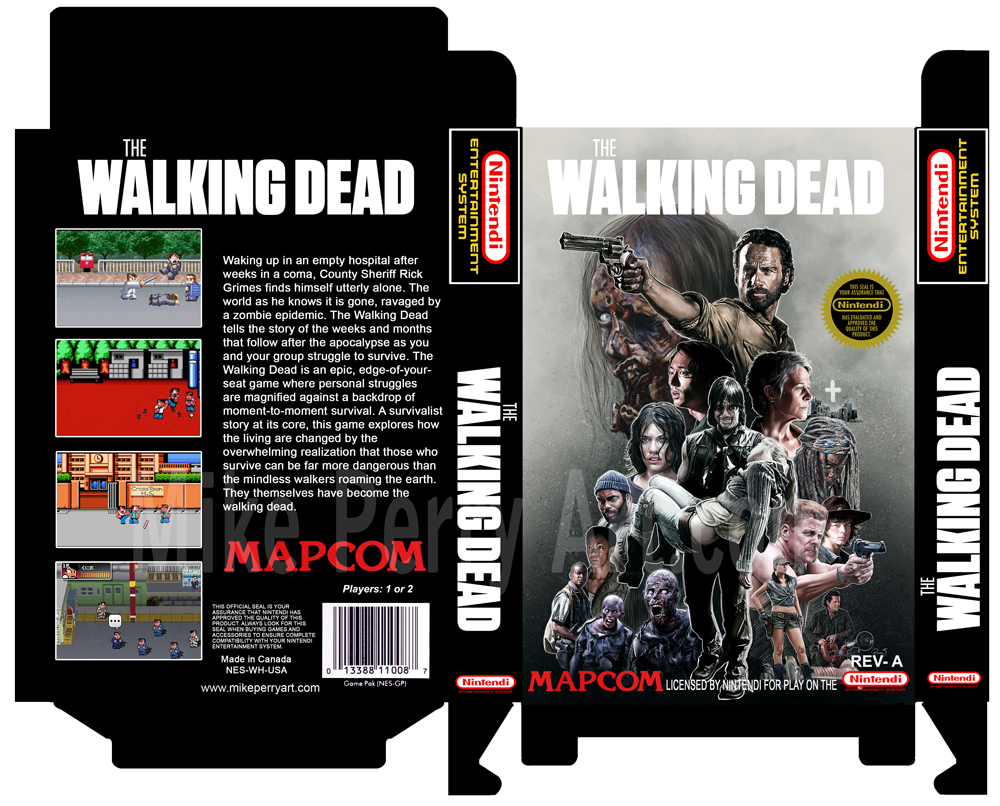 The Walking Dead NES Boxtemplate Mperry 2015 by MikePerryArt