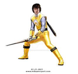 POWER RANGER CHARACTER STUDIES Ninjastorm Yellow