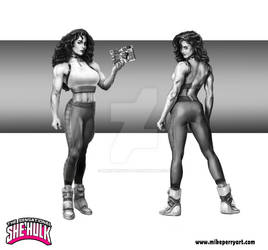 Shehulk Character Front and back