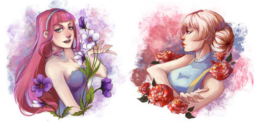 YCH Commision: Flowers