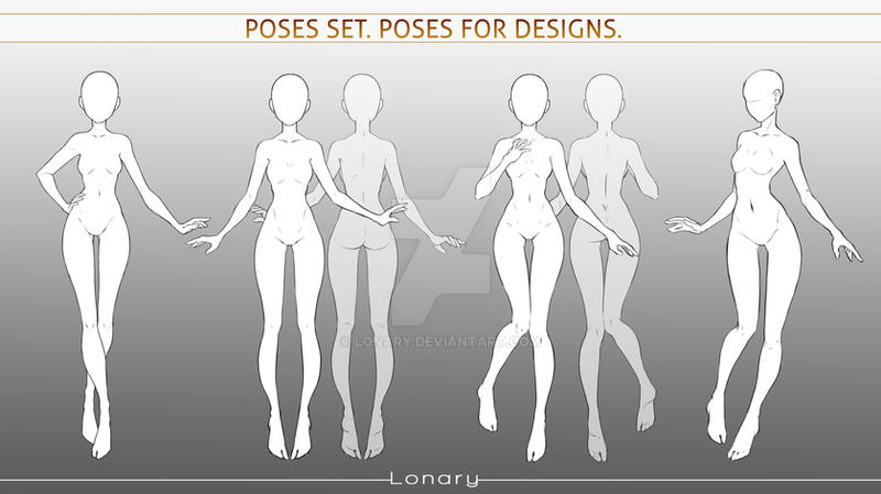 Poses set 3. Poses for designs.