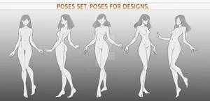 Poses set 4. Poses for designs.