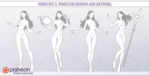 Poses set 5. Poses for designs.
