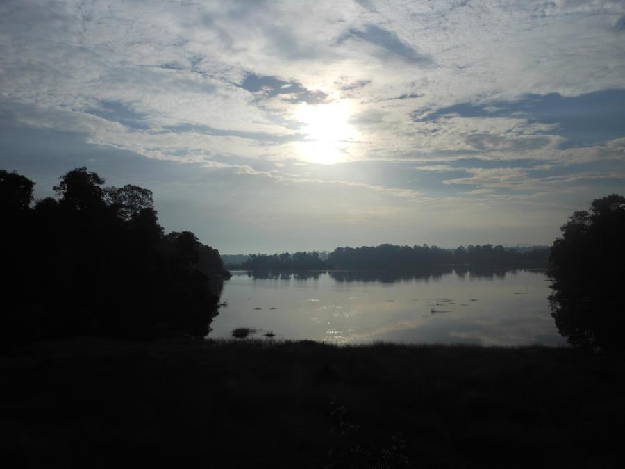 Sunrise over Tasek Merimbun lake by Arlandria83