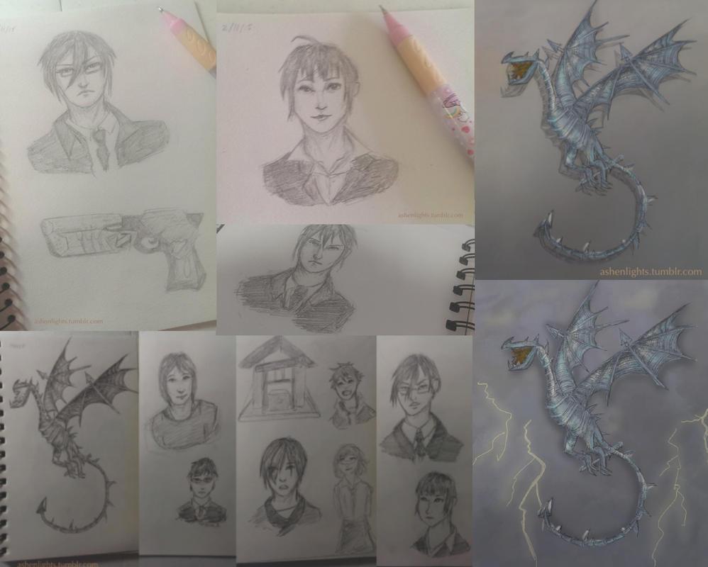 Sketchdump by AesuithielSilver