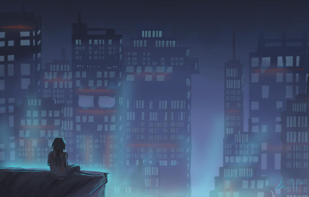 City Lights by AshenLights