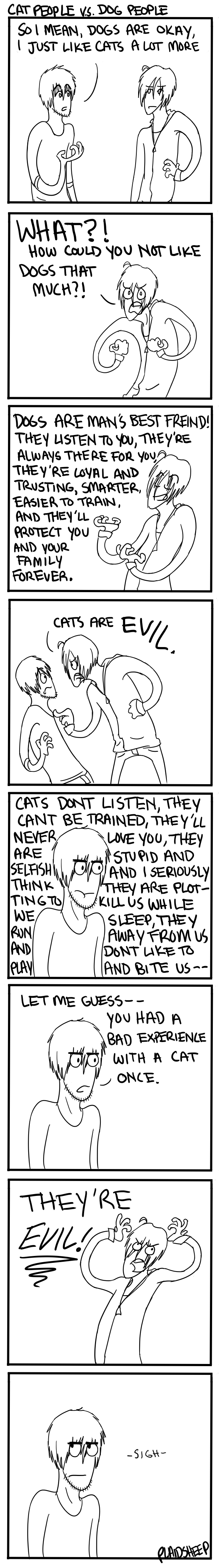 Cat People VS Dog People by PlaidSheep