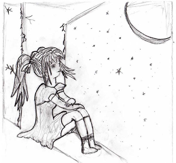 A Lonely Sad Girl Animated
