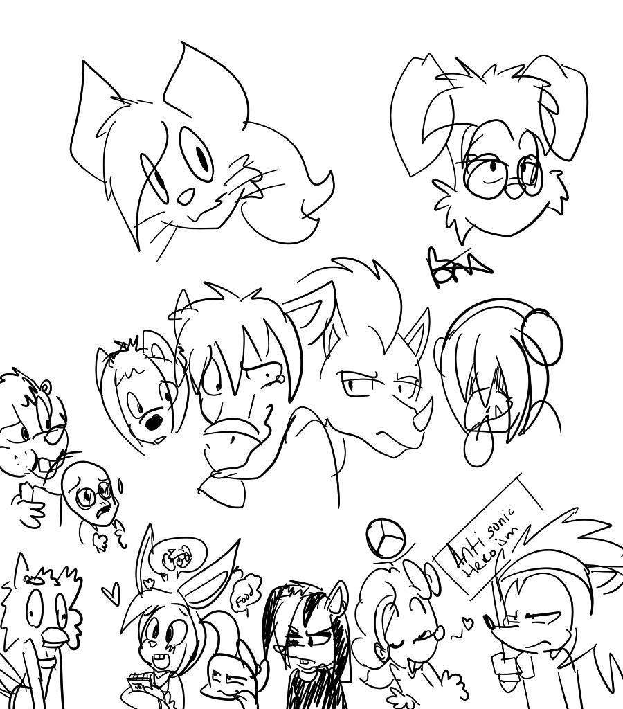 My Furries Characters in 2014 by BebeMonkey