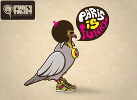 Paris is funky by Funkytshirt