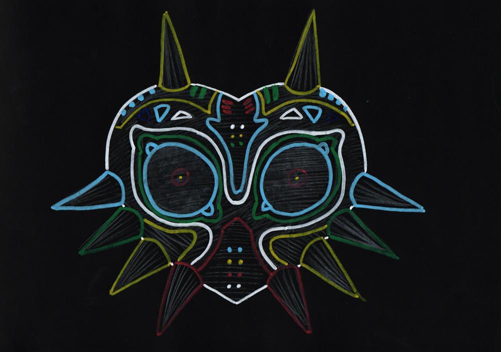 Majora S Mask With Black Background By Silgil On Deviantart