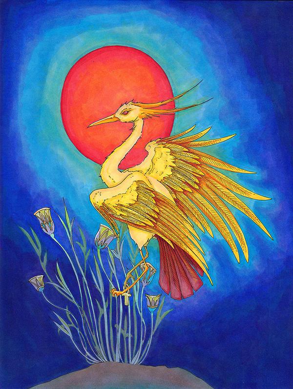 Ra as the Bennu Bird by metallic-feather