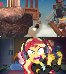 Gamer Sunset Shimmer Frustrated At Getting Over It