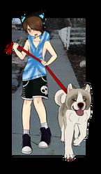 Dog Walker adopt(OPEN)-WillowWinters by WillowWinters