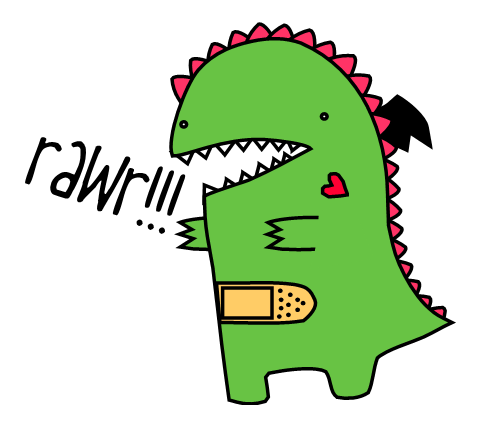 it's a dinosaur RAWR by cookiemonstermeow on DeviantArt