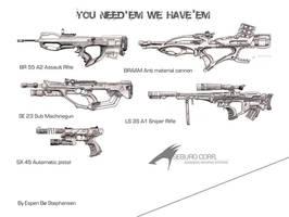 Guns by Armalite