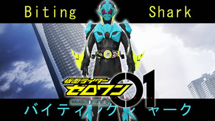 Kamen Rider 01 Biting Shark Wallpaper
