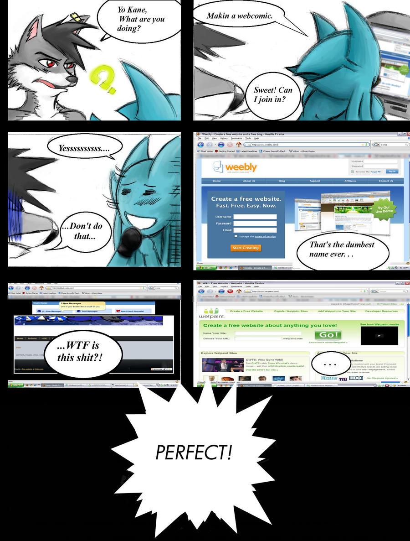 AKCBlack Comic - Page 1 by ChaserTech