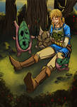 Link with his Koroks.