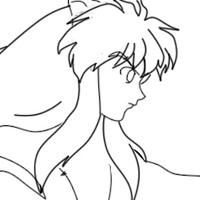 InuYasha in Wind 1.0 no colour by Sammy-i-love-nerds