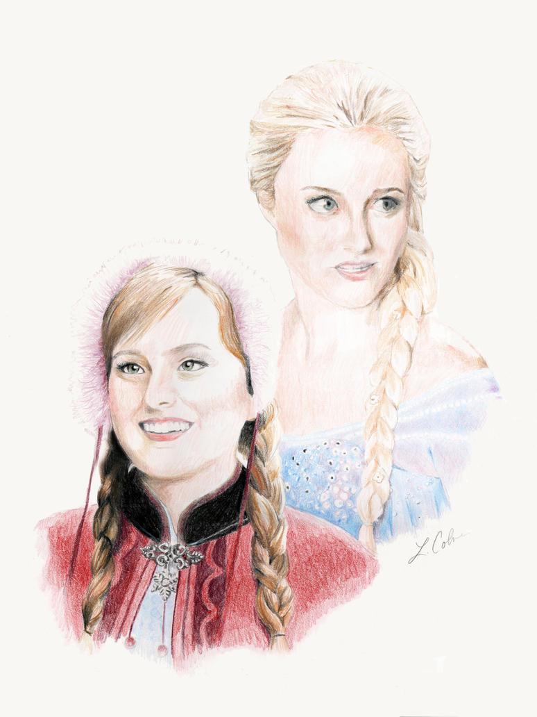 OUAT: Anna and Elsa by drakkenfan