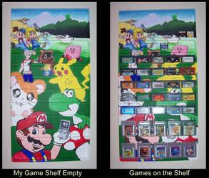 Gameboy Game Shelf