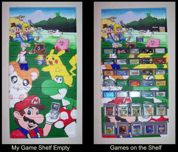 Gameboy Game Shelf by LMColver