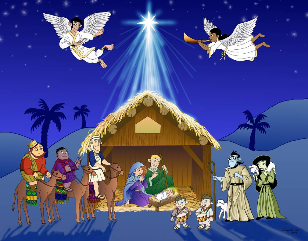 A Kim Possible Nativity Scene by LMColver
