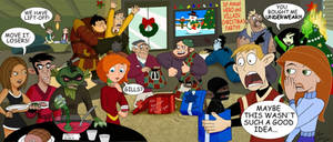 Hero and Villain X-mas Party by LMColver