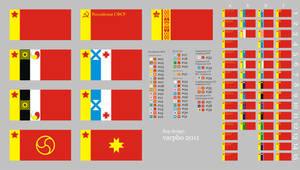 new Soviet flags