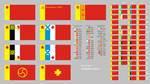 new Soviet flags