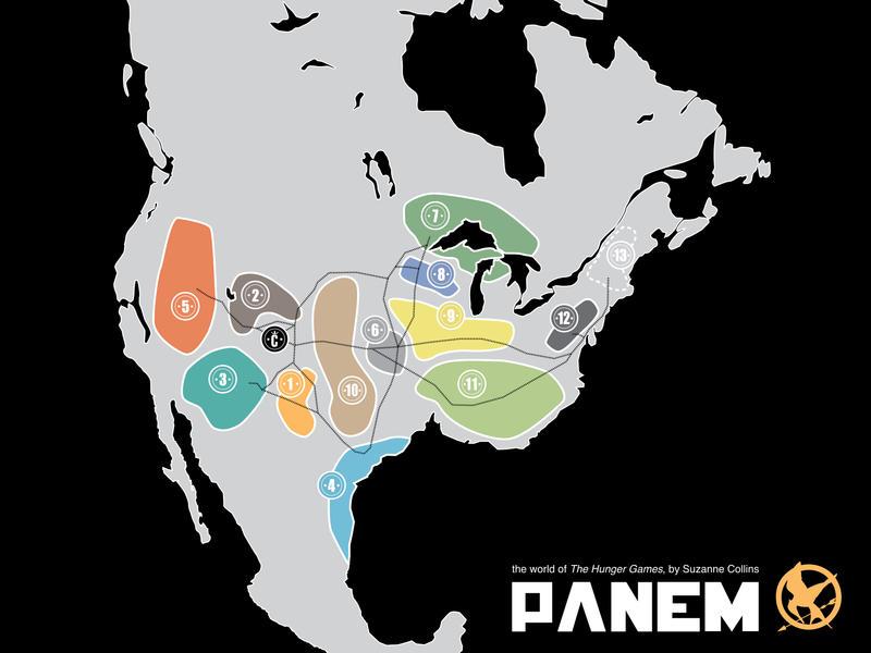 Map of Panem by schmidty4112