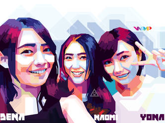 Dena, Naomi, and Yona JKT48 in WPAP by Edwin by winarts11