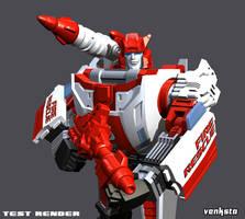 Red Alert Test Render by Venksta