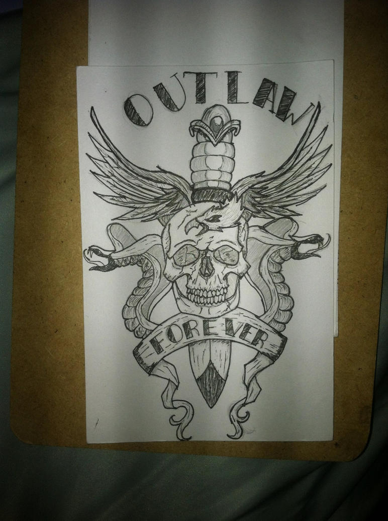 outlaw tattoo design by b ezart89 on deviantart rh b ezart89 deviantart com Outlaw Custom Tattoo Outlaw Tattoo Drawings