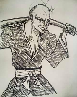 ikkaku sketch by B-EZART89