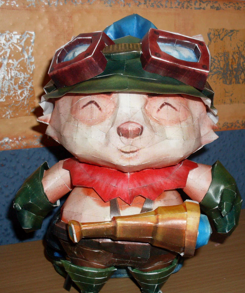 Teemo papercraft by Abid91