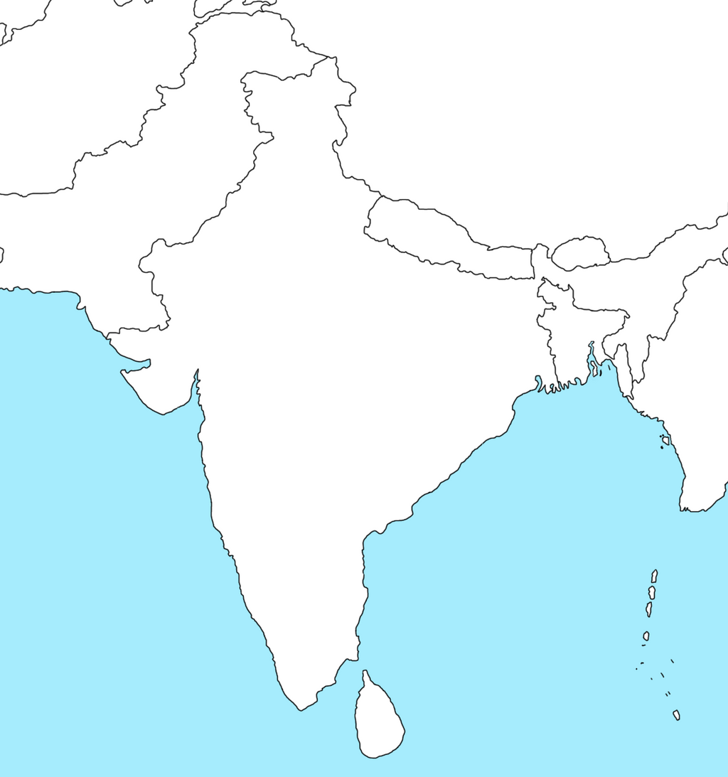Blank Political Map Of India - wiixilus