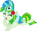 Green and Cyan