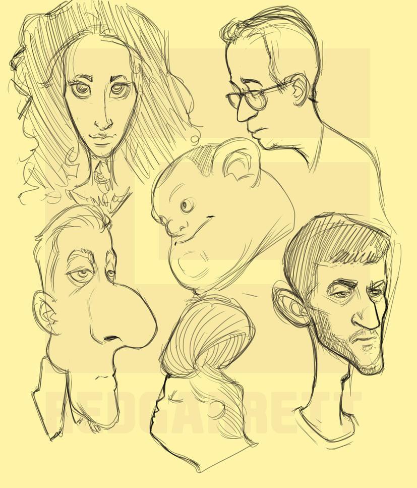 Toon Sketches by GarrettVFinazzo