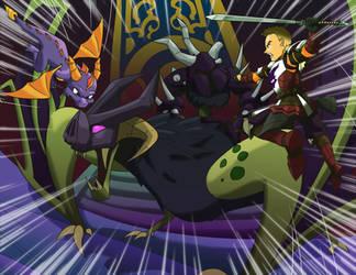 Spyro and Adir vs Ape Assassin by jazz316