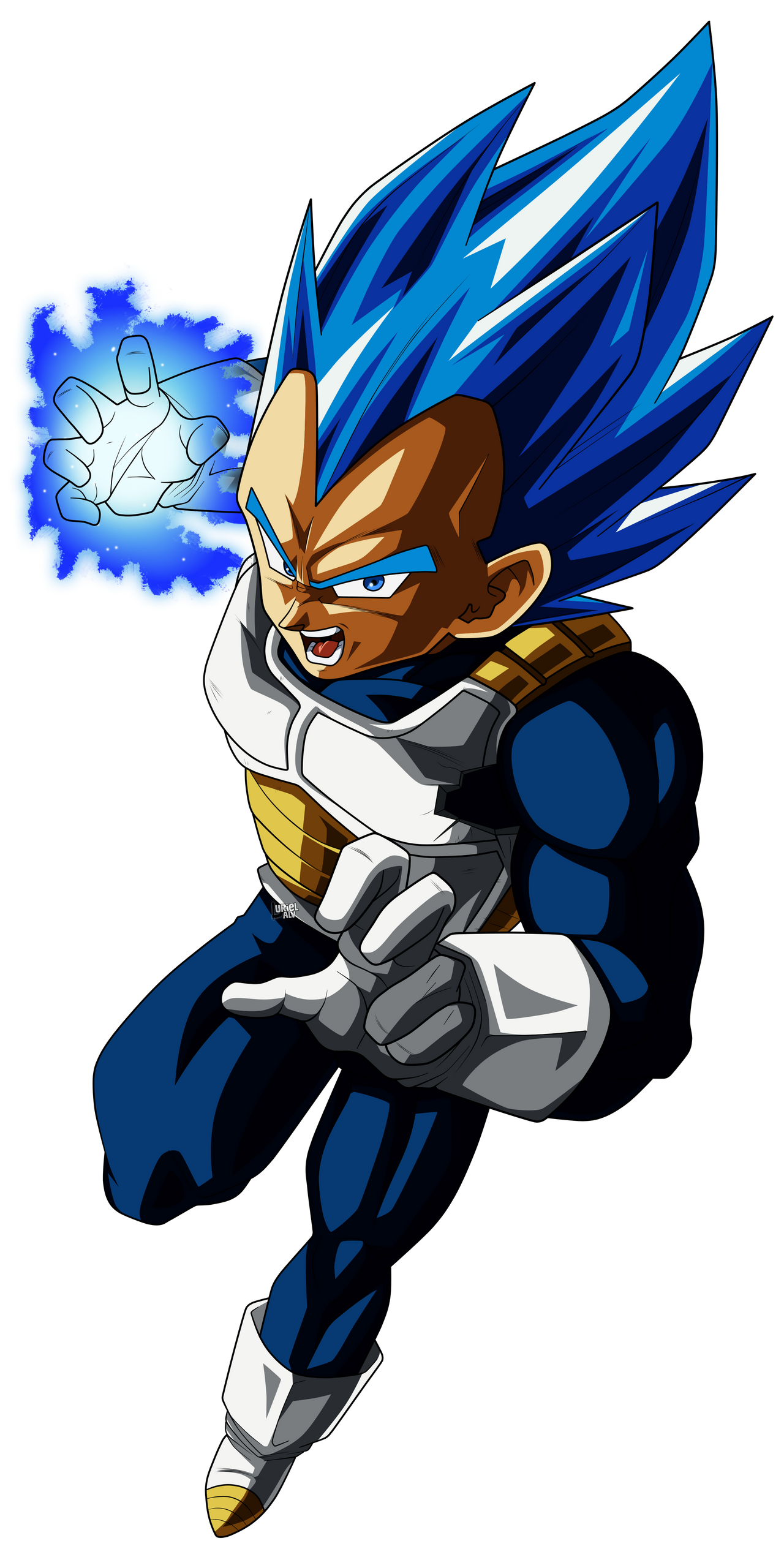 Vegeta Blue by UrielALV on DeviantArt