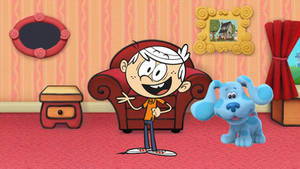 Lincoln Loud in the Blue's Clues Living Room