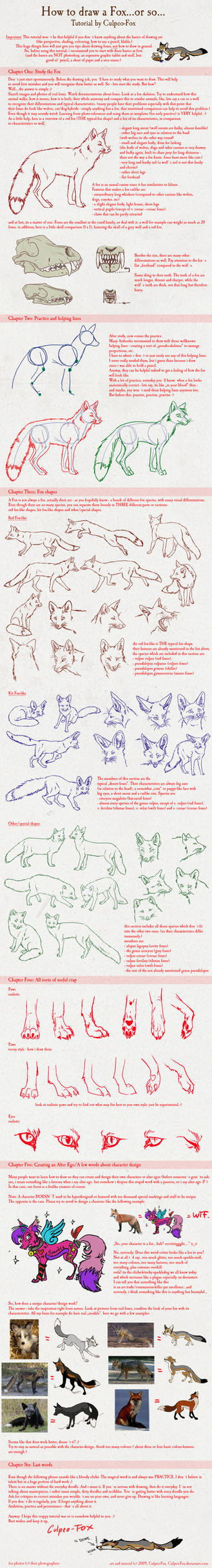 Fox Tutorial by Culpeo-Fox
