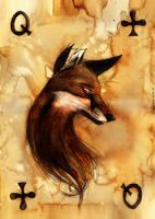 Queen of Clubs by Culpeo-Fox