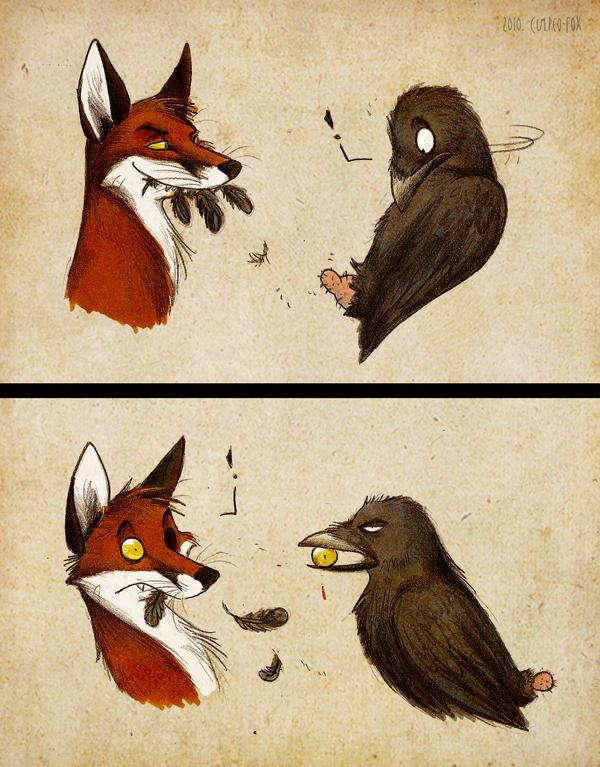 漫画:狐狸吃葡萄的故事…… - 碌碡画报 - 碌碡画报