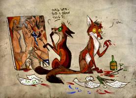 Those crazy artists... by Culpeo-Fox