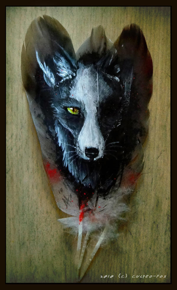 Feather painting fox eye by culpeo fox on deviantart for Painting feathers on canvas
