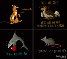 Critter Shirts by Culpeo-Fox